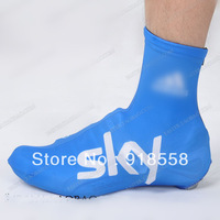 Free shipping 2013 skyblue team cycling shoe covers-bike shoe covers, cycling kits,cycling shoes covers