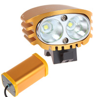 5ps SecurityIng Waterproof 2X CREE XM-L U2 LED BUlbs 800 Lumen Bicycle Headlamp Bike Front Flash Light With Rechargeable Battery