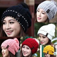 2013 New Hot Sales Women Lady Winter/Summer outdoor fashion wool hat ear warm knitted hat Wholesale