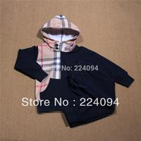 FREE SHIPPING! 2014 New arrive children clothing set kids sprots set coat+pants 2 pcs autumn kid's garment 1-5yrs