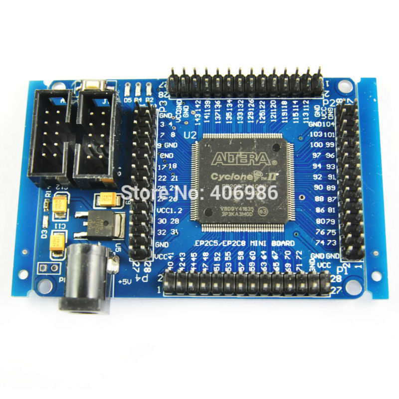 ALTERA FPGA CycloneII EP2C5T144 Minimum System Development Board Learning Board FZ0697(China (Mainland))