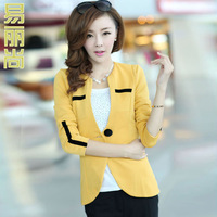 2013 spring and autumn long-sleeve slim small suit blazer jacket moda