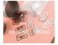 Mini Cutout Blade Metal Vintage Cute Bookmark Set  Free Shipping 16pcs/Set