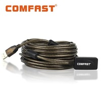 Free shipping COMFAST CF-U10  Power amplifier with 10M extension cable,USB2.0,high speed