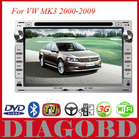 Android GPS for VW MK3 2000-2009 Car DVD Player with 3G GPS RDS radio bluetooth WIFI