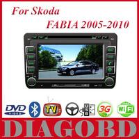 Android GPS  SKODA FABIA 2005 2006 2007 2008 2009 2010 Car DVD Player with 3G GPS RDS radio bluetooth WIFI