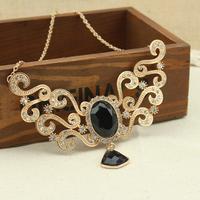 2013 new fashion beautiful lace luxury metal  gentlewomen short necklace Free shipping