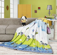 Blanket thickening high quality FL print fleece blanket air conditioning blanket coral fleece blanket SNOOPY