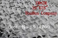 free shippping AA56 1M*2M 39*78 inches white snow car drop hunting Camping Woodlands Leaves Military Camouflage Net Cam