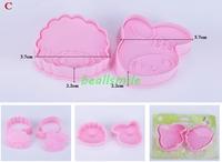 free shipping 2013fashion Cookie cutter 3D Little Lamb& Rabbit  animal cake  Vegetable molds cutter bakware mould DIY 4pcs/LOT