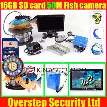 Portable 50m Underwater Video camera Recorder System 600TVL Camera ,Fish DVR recorder ,exploring monitor recorder system