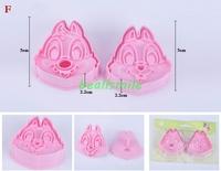 free shipping 2013fashion Cookie cutter 3D chipmunks MOUSE animal cake biscuit Vegetable Dessert moldS bakware mould DIY4pcs/lot