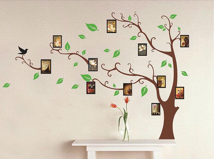 supernova venda quadro de parede arte árvore decoração adesivos de vinil crianças quartos mobiliário TV foto diy papel de natal decoração da parede espelho(China (Mainland))