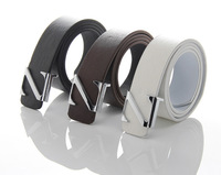 2013 male PU belt letter belt round buckle male solid color casual all-match strap small prefixes z