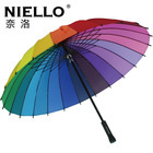 Niello 24 rainbow umbrella long-handled umbrella princess umbrella(China (Mainland))