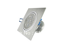 Free shipping 15pcs/lot Dimmable 7w Square LED Downlight Pure/Warm White led Ceiling Lamp Spot Lighting
