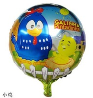 Free shipping 10pcs/lot  foil helium balloons galinha pintadinha mylar balloon ,chicken ballon party decoration