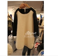 Autumn and winter woolen one-piece dress long-sleeve dress plus size clothing basic one-piece dress