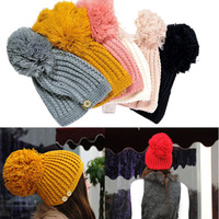 2013 New hot Holiday Sale Unisex Women Winter/Summer Snowboard Cap Running Ski Skull Beanie Hat Wholesale