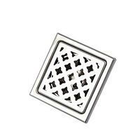 """4"""" Anti-odor square floor drainer stainless steel bathroom kitchen shower cover with filter for home decoration"""