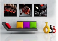red wine Huge Picture Painting Combination Modern Canvas Paint   Wall Hanging (no framed)