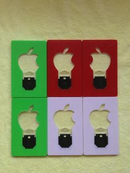 LED Apple card light,Pocket LED Card Light,Wallet light lamp For Christmas Free shipping