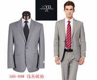 Free Shipping 2013 New Fashion Brand Custom Made Men Business Suits Slim Fit High Quality  Wool Suit  For Men Jacket +Pants