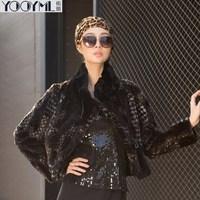 free shipping Yooyml rex rabbit hair fur women's outerwear jacket picao design short overcoat multicolor