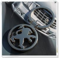 10pcs/lot Peugeot car emblems Keychain Keyrings Key Chain Ring Key Fob ,Peugeot car keychain car key rings  car key ring