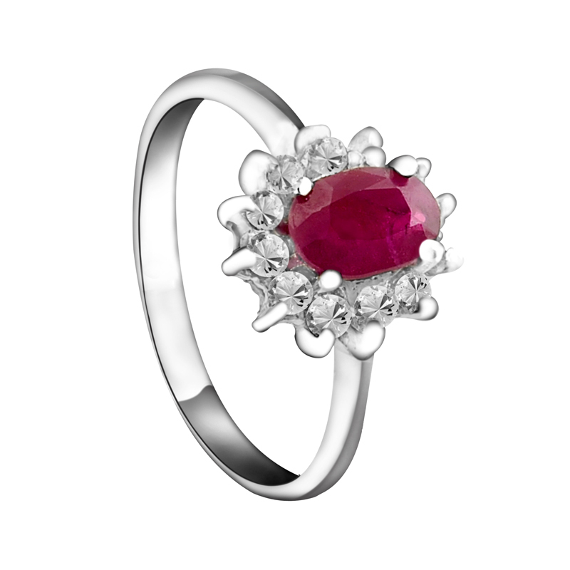 Flammable volcano sterling silver jewelry 925 silver inlaid natural ruby ring to send his girlfriend SR1463R(China (Mainland))