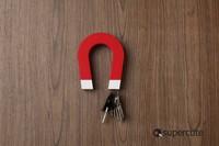 U-shaped Magnetic Key Holders 1pc Trinket innovative items stick on Wall Door Refrigerator Fridge Novelty gift Cloud Key Holder