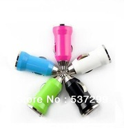 Car USB charger color mini USB car charger bullet car car mini charger
