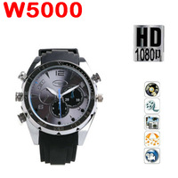 by dhl or ems 50 pieces built-in 8GB Waterproof Watch Digital Video Camera 1080p AVI Mini Camcorder DVR freeshipping