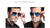 Hot Sale 2013 New Cool Men's Sunglasses High Quality Brand Driving Aviator Fashion Sun Glasses Free Shipping