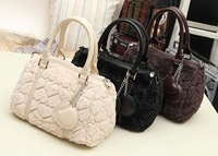 Imported kors rabbit hair leather famous brand fashion element women channel Cheap women crossbody bags