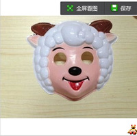 Little red riding hood 42g child mask cartoon mask plastic female goat