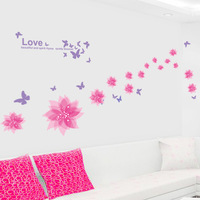 Wall stickers flower sticker cabinet eco-friendly wall stickers