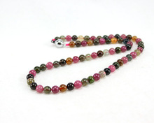 Free shipping! Fashion Jewelry Necklace 45CM 7MM 100% natural tourmaline beads Noble women necklaces(China (Mainland))