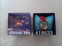 Factory price new arrival Free Shipping 10 pcs/lot  Planes Watch, Children Watch with box,birthday gift for children