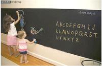 Big sale  Vinyl wall decal 5 movable blackboard blackboard chalk B2 children 45CMx200CM  free shipping