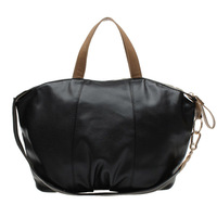 Hot sell  style lady women's solid color pu leather fashion handbag  casual vertical street color block kC2079, free shipping