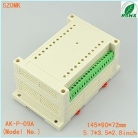 10 pieces a lot    145*90*72MM 5.7*3.5*2.8inch plastic din rail  for electronic