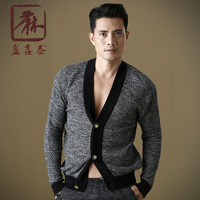 Autumn and winter fluid V-neck Men long-sleeve sweater slim fashionable casual outerwear