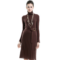 2013 fashion autumn and winter turtleneck sweater dress slim knitted long-sleeve a one-piece dress Christmas gift