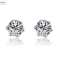 Free shipping Suki stud earring female 925 pure silver zhaohao fashion zircon stud earring lovers sparkling earrings accessories