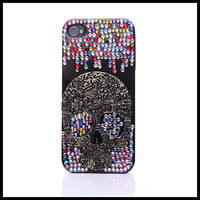 Colorful diamond Kito  case for iphone 4 4s black cases for  iphone 5 5s moblie phone  shell free ship