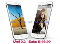DHL Shipping 5.0'' FHD Screen UMI X2 X II MTK6589T Quad Core 1GB  RAM 16GB ROM Andriod 4.2 Phone 1920*1080