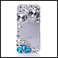 Special-shaped diamond  case for iphone 5 5s   transparent  cases for  iphone 4 4s  moblie phone free ship
