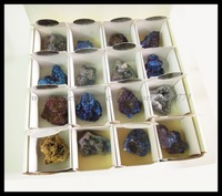 FEDEX US Free Ship 32PCS (1Box) Rock & Mineral Display Specimen Natural Broken Titanium Colorful Agate /Quartz Druzy Geodes