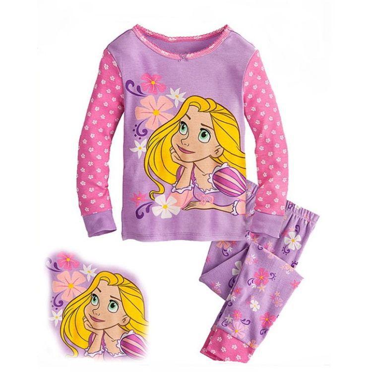 Baby Girl's Pink Princess Pajamas Palk Dot Children Fashion Sleepwear Kids Cotton Homewear Girl Winter Pajamas 6Sets/Lot(China (Mainland))